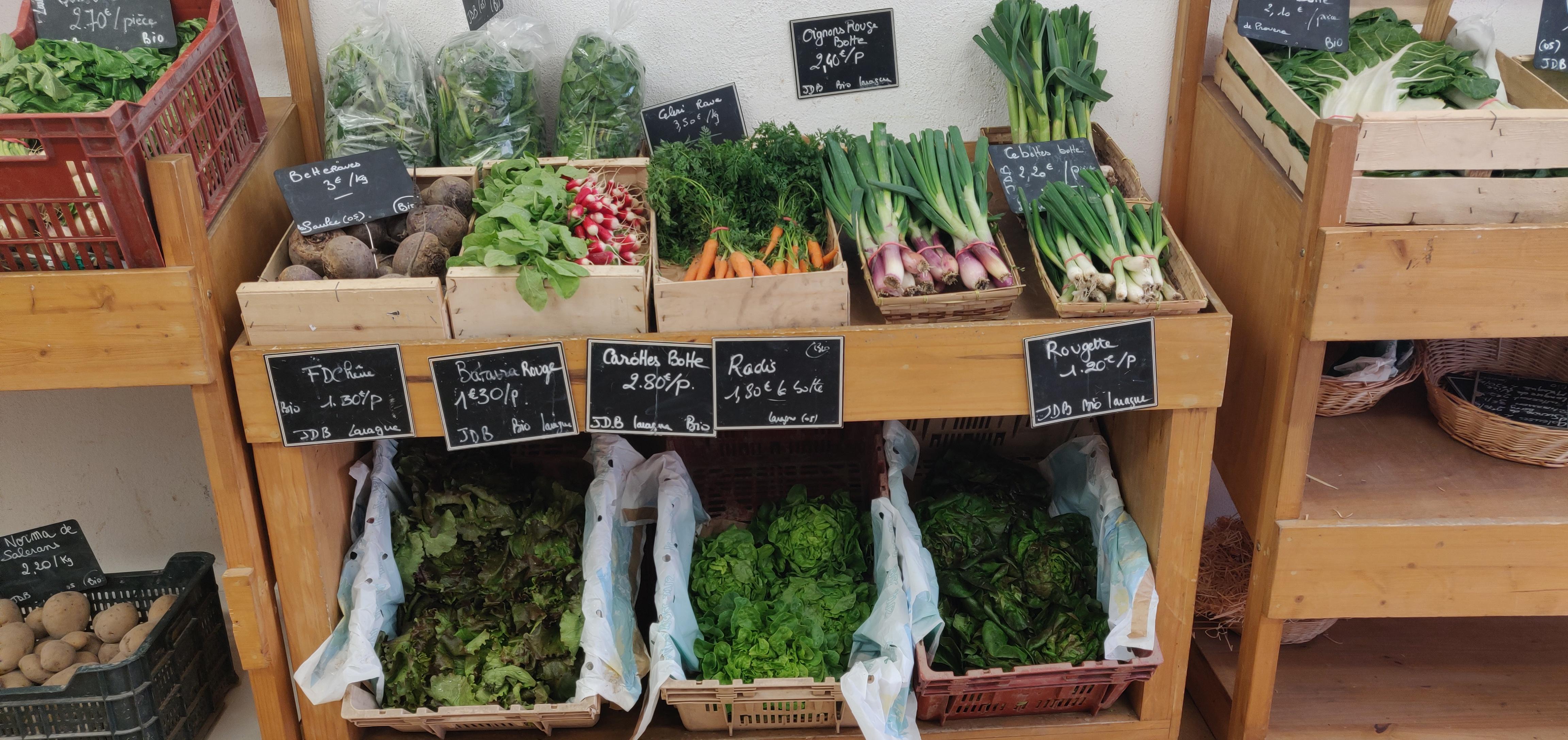 Présentoir Légumes Paniers de nos Vallées