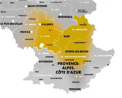 Région PACA + Auvergne Rhône-Alpes