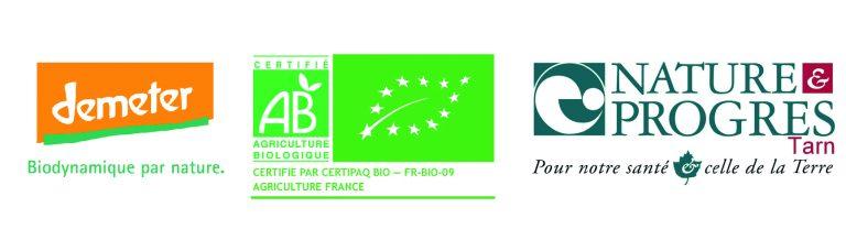 Logos labels bio